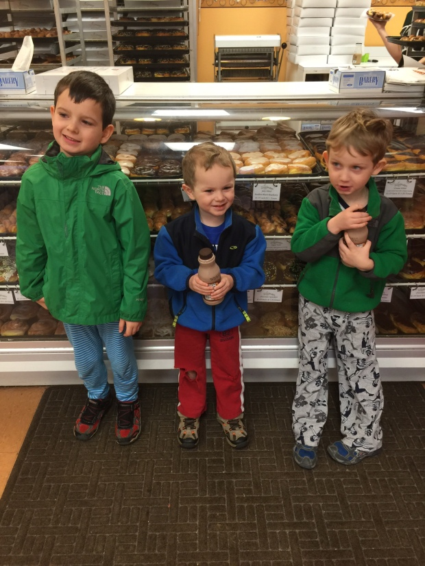 """The doughnut shop in your pajamas with your brothers...this is what Saturday morning memories are made of."""