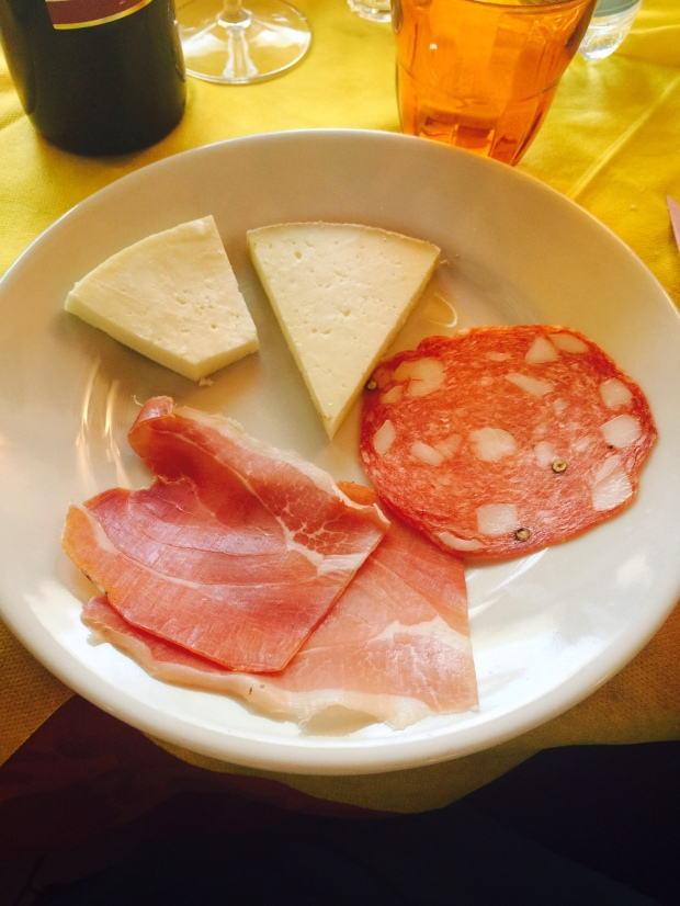 Second plate. The meats and cheeses were so delicious.